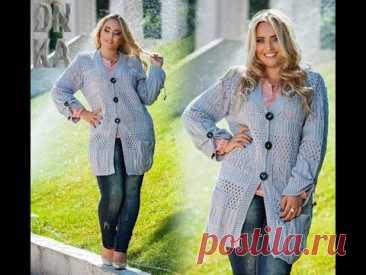 Вязанная одежда для женщин больших размеров.Одеваемся стильно и модно.