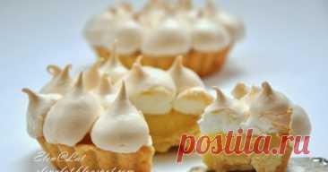 Lemon tartlets with meringue Who is interested in my recipes, that knows how I adore lemon pastries. In the childhood we often baked various lemon pies. But sama...