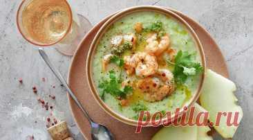 Холодный суп из дыни с креветками - Образованная Сова
