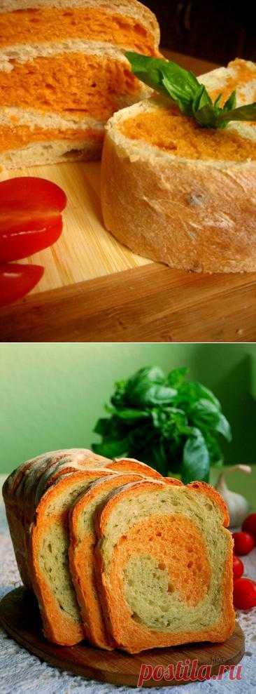 Батон мраморный, томатный.