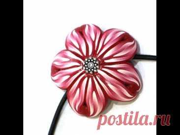 Фантазийный цветок из полимерной глины