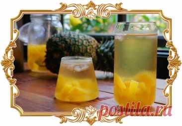 #Холодный #зелёный #чай #с #ананасом  Если хочется освежиться, приготовьте для себя этот напиток с тонким ароматом тимьяна и тропических фруктов.  Время приготовления: Показать полностью...