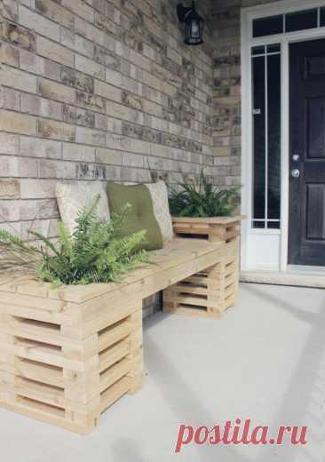 4 мастер-класса по созданию садовых скамеек своими руками + 7 идей для вдохновения