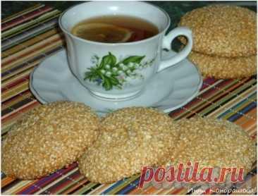 Рецепт печенья с кунжутом в домашних условиях - 6 пошаговых фото в рецепте