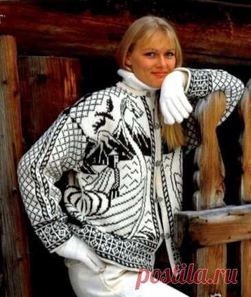 Норвежский жаккард куртка с драконом: Дневник группы «ВЯЖЕМ ПО ОПИСАНИЮ»: Группы - женская социальная сеть myJulia.ru