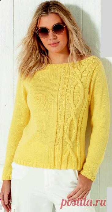 Вязаный пуловер Paradise | ДОМОСЕДКА