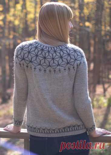 Пуловер с круглой кокеткой Tensho (Artist) - Вяжи.ру