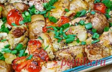 Вкуснейшее жаркое из курицы и овощей: необычная нарезка и укладка