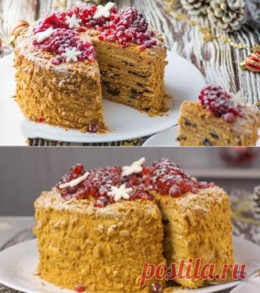 Зимний вариант торта «Медовик» - идеальное сочетание компонентов! - be1issimo.ru