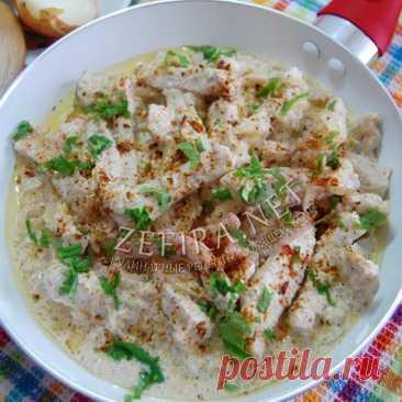 Бефстроганов из свинины - простой рецепт шикарного ужина
