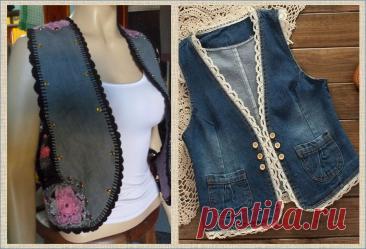 Переделка: джинсы и джинсовка и вязание крючком - 50 моделей для примера   МНЕ ИНТЕРЕСНО   Яндекс Дзен