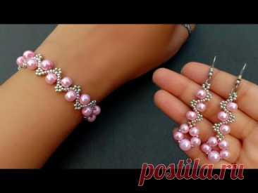 Easy Pearl Jewelry Making At Home//Bracelet & Earrings// Handmade Jewelry// Useful & Easy
