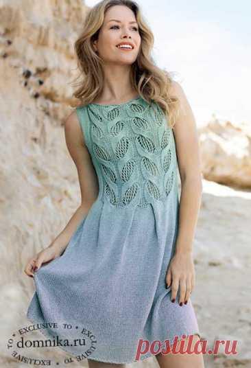 Модное вязаное платье спицами схема вязания и описание бесплатно