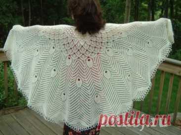 Чудесная шаль «Павлиний хвост» » Ниткой - вязаные вещи для вашего дома, вязание крючком, вязание спицами, схемы вязания