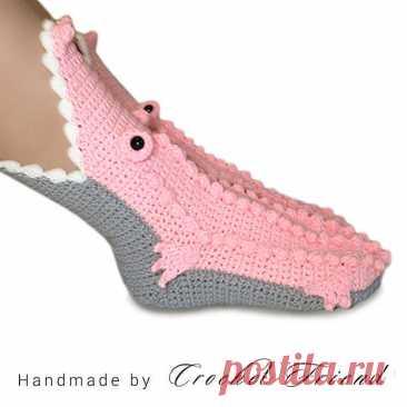 Крокодиловые носки. Etsy