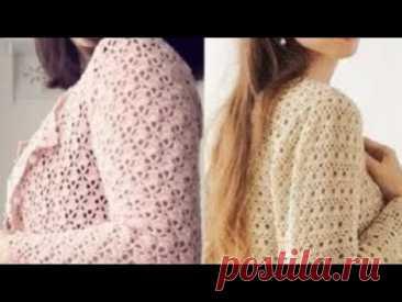 Женские жакеты крючком со схемами - Women's Crocheted Jackets