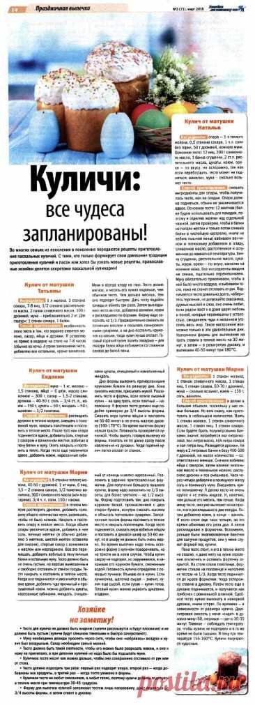 Куличи от православных хозяек