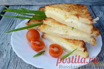 Рецепт: Сэндвичи с моцареллой (Mozzarella in carrozza) на RussianFood.com