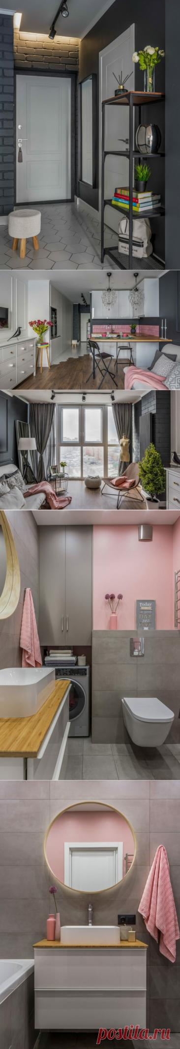 Белый, серый и немного розового... Стильный интерьер студии для девушки | DECOrry | Яндекс Дзен