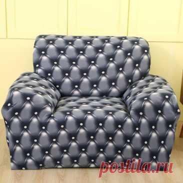Чехол для дивана, эластичное покрытие из спандекса для одного кресла, украшение для сиденья, для гостиной, эластичный чехол для дивана с цветочным принтом   Дом и сад   АлиЭкспресс