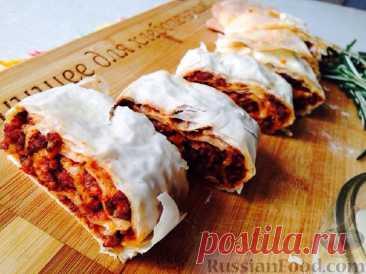 La receta: SHtrudel con la salsa boloneze en RussianFood.com