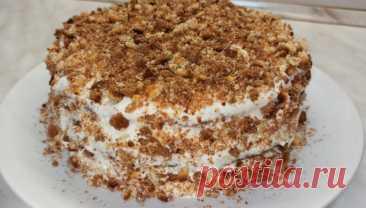 Быстрый торт на сгущёнке со сметанным кремом Всем привет! Предлагаю приготовить вкусный домашний тортик! Этот двухцветный мягкий торт готовится легко и быстро. Тесто для коржей готовится на основе сгущённого молока, благодаря этому они получаются очень нежными. Такой торт украсит и дополнит любое чаепитие, как за праздничным столом,...
