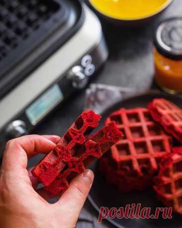 Американские вафли «Красный бархат» | Andy Chef (Энди Шеф) — блог о еде и путешествиях, пошаговые рецепты, интернет-магазин для кондитеров |