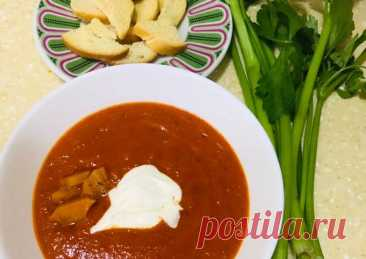 Турецкий суп-пюре из печёных перцев - пошаговый рецепт с фото. Автор рецепта Sayyora Alimova ✈ . - Cookpad
