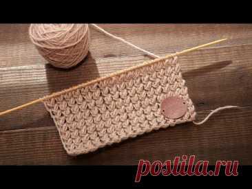 Эластичный узор спицами 🦌 Knit Elastic Stitch