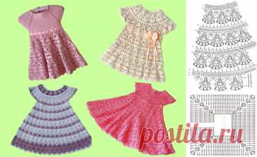 9 моделей вязаных платьев для девочки крючком: просто, быстро и красиво | Рукоделишна | Яндекс Дзен