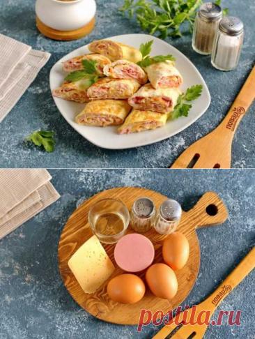 Рулетики из омлета с начинкой   Вкусные кулинарные рецепты