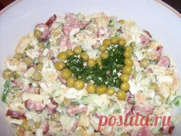 """Интересный салат """"Дружба"""". Любимые ингредиенты в одном блюде!"""