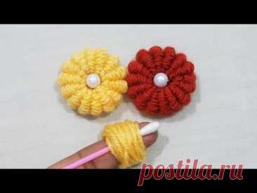 Hand embroidery Amazing Trick,Wow Easy Brazillian Flower Embroidery Trick With finger,Sewing Hack - YouTube