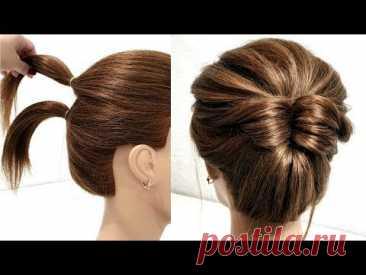 Прическа за 2 минуты на Короткие волосы. ПОШАГОВЫЙ УРОК. Hairstyle in 2 minutes on short hair.