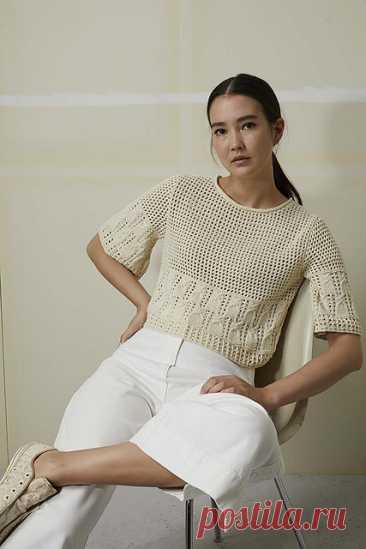 259-42 Lang Yarns Baby Cotton by LANGYARNS SWITZERLAN Свитер → Пуловер