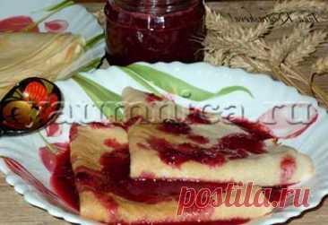 Домашние блины с вишнёвым соусом: рецепт, фото рецепт, пошаговый рецепт с фото