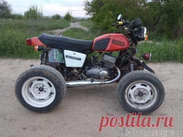 Самодельный квадроцикл на базе мотоцикла Иж Юпитер-5 | Самоделки своими руками