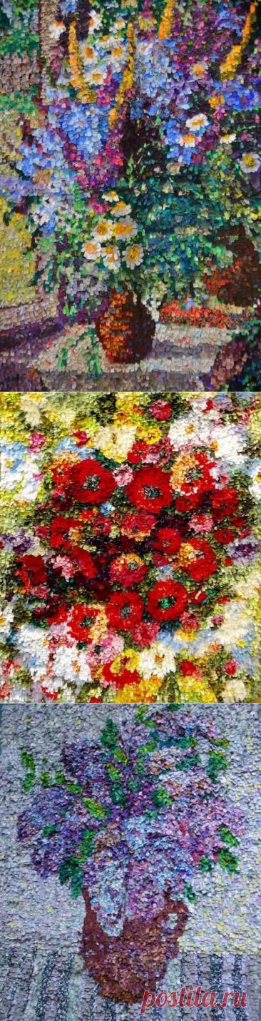 Лоскутные картины в технике ляпочиха - Сам себе мастер - медиаплатформа МирТесен