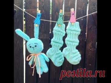 """Как связать финские носочки для малыша спицами // Junasukat // СП """"Вязаное детство"""""""