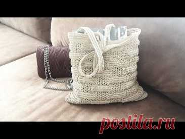 И всё-таки, она классная. Вяжем  сумку по японским схемам 👜 crochet bag.