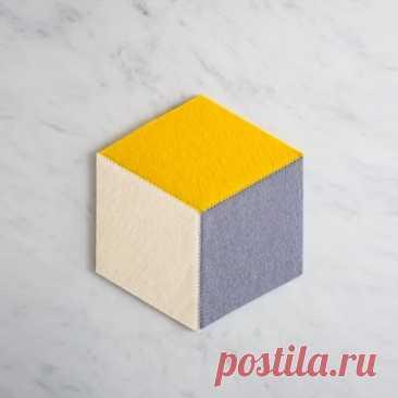 Как сшить подставки из фетра с геометрическим узором — Мастер-классы на BurdaStyle.ru