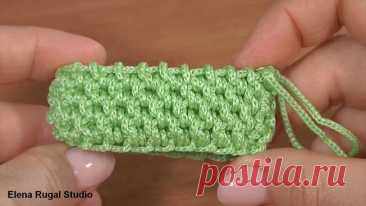 3D УЗОР КРЮЧКОМ для сумок, корзинок, чехлов и для кругового вязания чего-либо