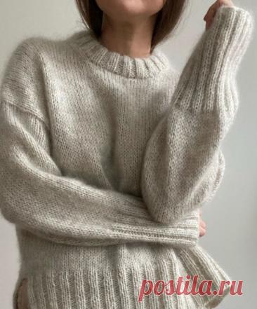 Вязаный свободный свитер | ДОМОСЕДКА