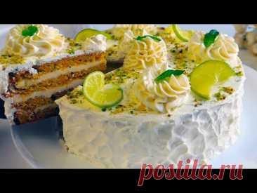 """Морковный Торт """" Кокетка"""" с творожным кремом из трёх ингредиентов! Домашний,вкуснейший торт"""