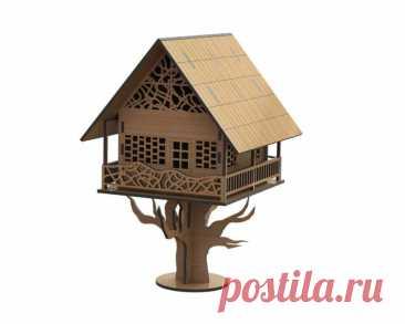 Купить домик на дереве для птиц на заказ