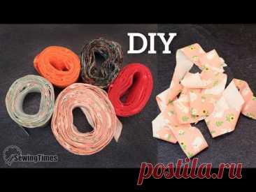 Как сделать косую бейку своими руками | 10 ярдов уклона из 1/2 ярда ткани [sewingtimes]