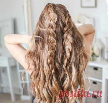 Простые прически для длинных полураспущенных волос