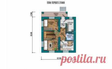 p1533ge – проект дачного дома 8 на 8 с мансардой и 4 спальнями из пеноблоков до 100 кв м