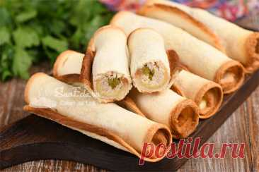 Хрустящие хлебные трубочки с начинкой из того, что есть в холодильнике (рецепт с фото) Хрустящие хлебные трубочки с начинкой из того, что есть в холодильнике (рецепт с фото) Такие трубочки с начинкой готовлю на завтрак и для перекуса. Для начинки подойдет все, что есть в холодильнике. Например, твердый или плавленый сыр, остатки мяса, рыбы от ужина или обеда, колбаса, помидоры и соленые огурцы. Трубочки получаются оригинальными, хрустящими и вкусными. […] Читай дальше на сайте. Жми подробнее ➡