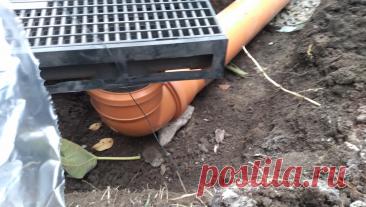Очень простая, но надежная и эффективная система отвода дождевой воды без лишних дренажных колодцев | Строю для себя | Пульс Mail.ru По совету проектировщика сделал надежную систему отвода дождевой воды